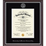University of Missouri Kansas City Devonshire School of Medicine Silver Diploma Frame