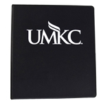 UMKC Black 1 Inch Three-Ring Binder