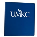 UMKC Navy Blue 1 Inch Three-Ring Binder