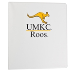 UMKC Roos White 1 Inch Three-Ring Binder