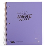 UMKC Roos Lavender Three-Subject Notebook