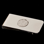 UMKC Official Seal Silver Money Clip