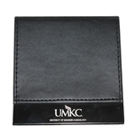 UMKC Black Leather Post-It  Note Holder