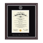 University of Missouri Kansas City Devonshire Diploma Frame