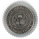 UMKC official Seal Pewter Paperweight