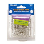 Bazic Clear Push Pins - 100 Pack