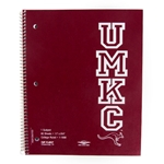 UMKC Roos 1 Subject Red College Ruled Notebook