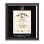 University of Missouri School of Nursing Devonshire Diploma Frame