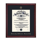 University of Missouri Kansas City Cherry Diploma Frame