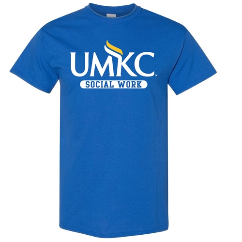 UMKC Social Work Royal Blue Crew Neck T-Shirt