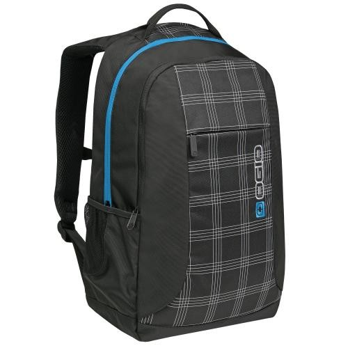 Ogio Duke Black Plaid Backpack
