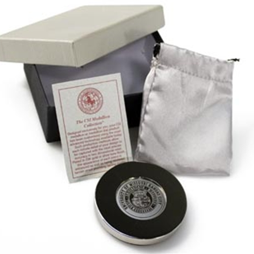 UMKC Official Seal Silver Paperweight