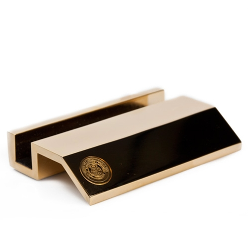 UMKC Official Seal Gold Business Card Holder
