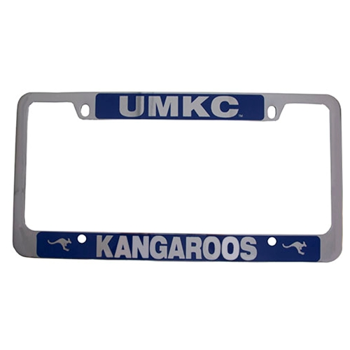 UMKC Roos Blue & Silver License Plate Frame