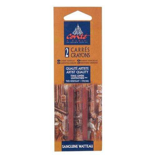 Conte Sanguine Watteau Medium Dark Crayon Set of 2