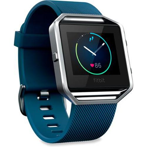 Fitbit Blaze Fitness Tracker & Watch, Blue Small