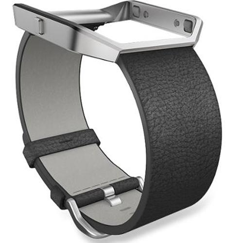 Fitbit Blaze Black Leather Large Accessory Band