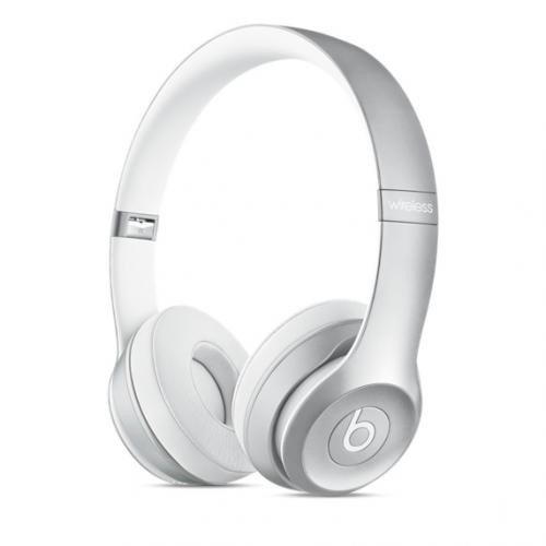 Beats by Dre Solo2 Wireless Silver On-Ear Headphones