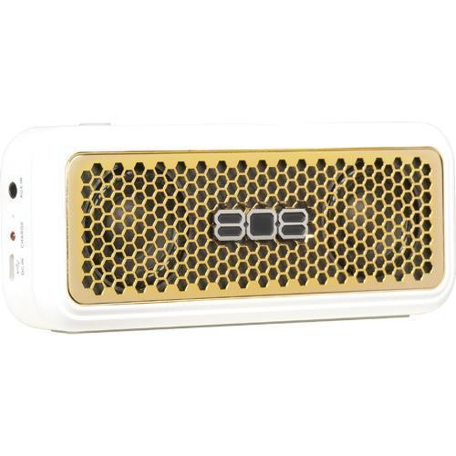 808 XS White & Gold Bluetooth Wireless Speaker