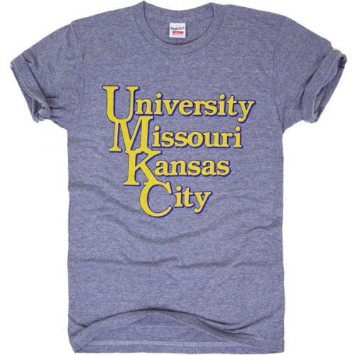UMKC Charlie Hustle Grey Crew Neck T-Shirt