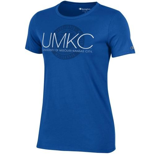 UMKC Juniors' Blue Crew Neck T-Shirt