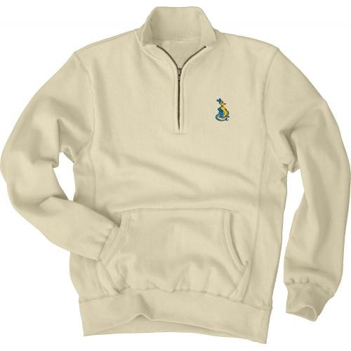 UMKC Roos Off White 1/4 Zip Sweatshirt