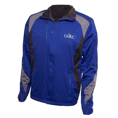UMKC Antigua Wind Resistant Royal Blue Full Zip Jacket