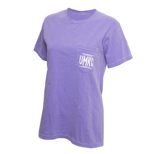 UMKC Comfort Colors Juniors' Lavender Crew Neck T-Shirt