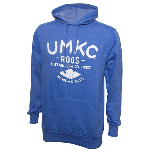 UMKC Roos Distressed Print Royal Blue Hoodie