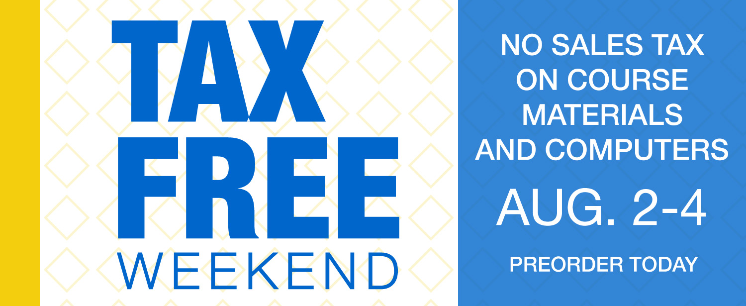 Tax Free Weekend is August 2nd through 4th for materials and computers