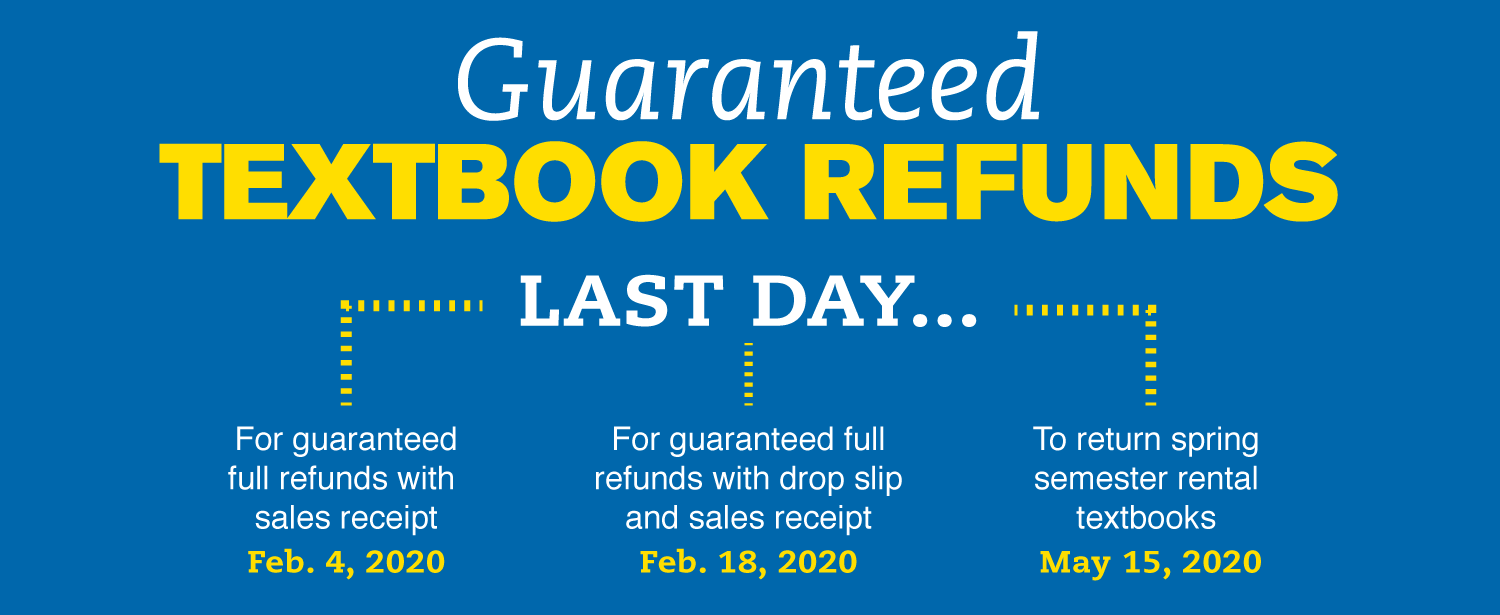 Textbook return deadlines