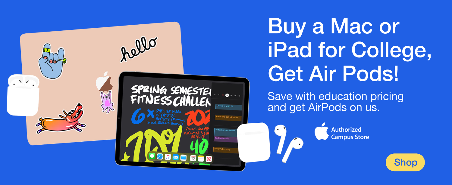 Buy a Mac or iPad and get free AirPods