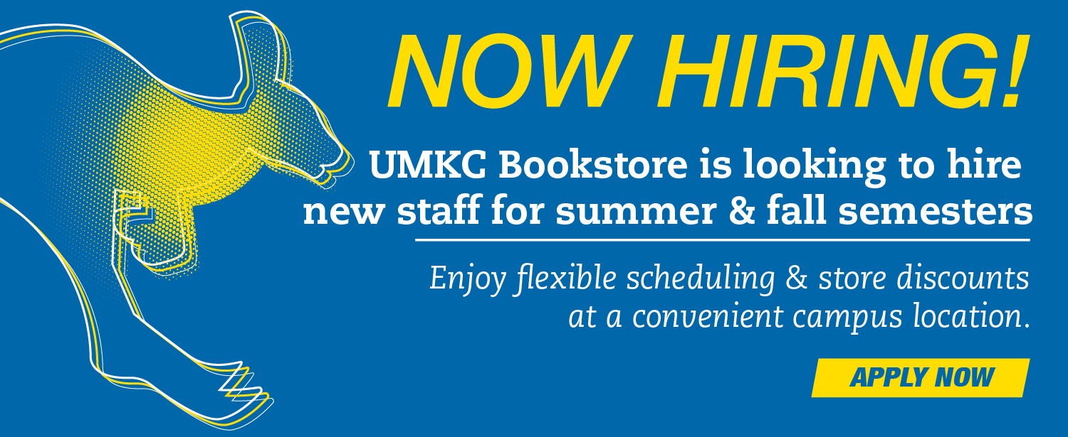 UMKC Bookstore is now hiring!