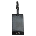UMKC Black Leather Luggage Tag