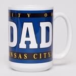 UMKC Dad White & Blue Ceramic Mug