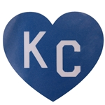 KC Blue & White Heart Decal