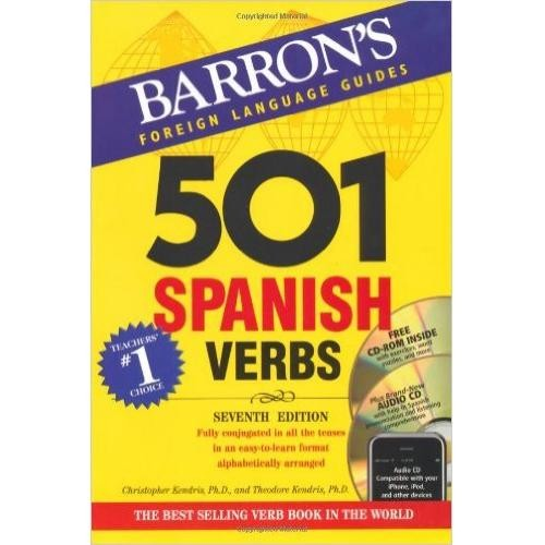 Baron's 501 Spanish Verbs with CD-ROM and Audio CD (7th Edition)
