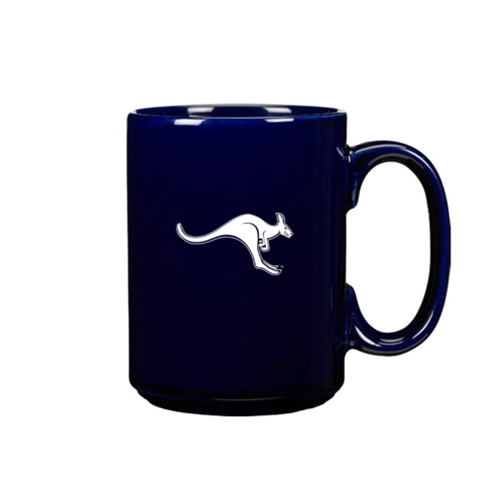 UMKC Roo Etched Ceramic Blue Mug