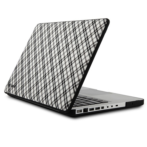 "15"" Grey Plaid Speck MacBook Case"