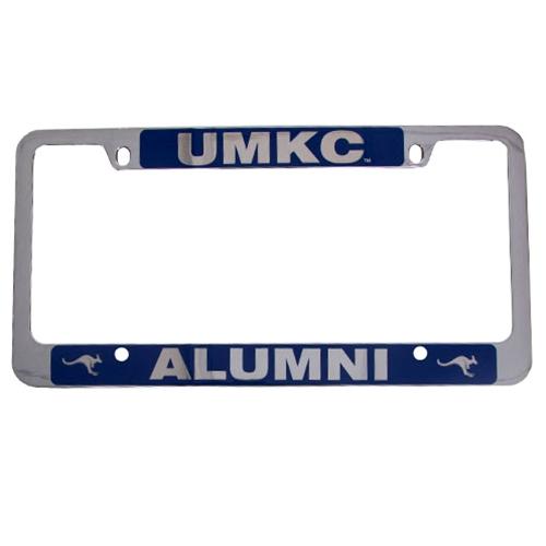 UMKC Bookstore - UMKC Blue & Silver Alumni License Plate Frame