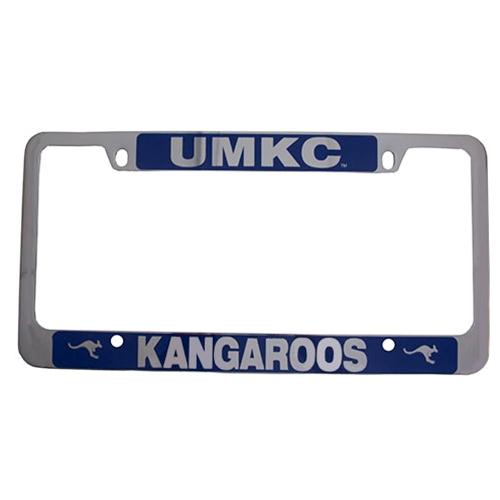UMKC Bookstore - UMKC Roos Blue & Silver Single License Plate Frame