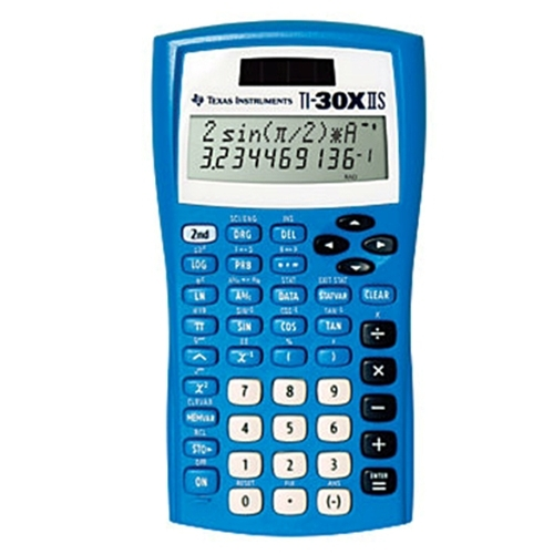 Texas Instruments Ti-30X IIS Solar Blue Scientific Calculator Black