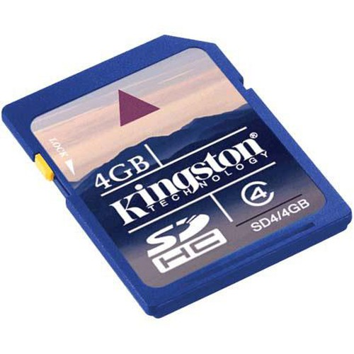 Kingston Technology 4GB Class 4 Secure Digital High Capacity (SDHC) Memory Card