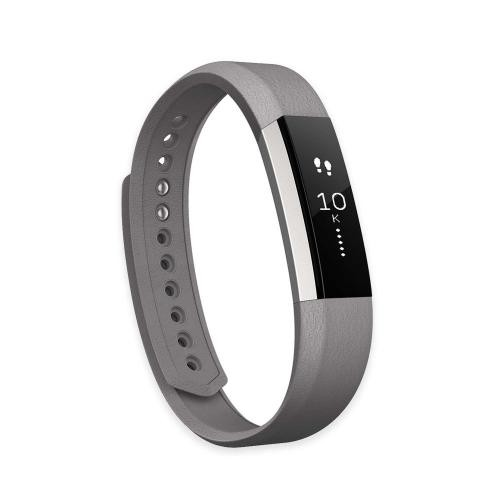 Fitbit Alta Leather Replacement Band, Graphite Small