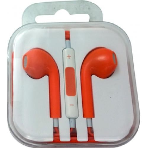 Professional Cable Xavier Orange Earbuds with Volume Control