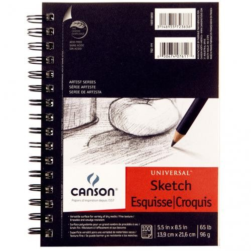 "Canson Universal Sketch Pad 5.5"" x 8.5"""
