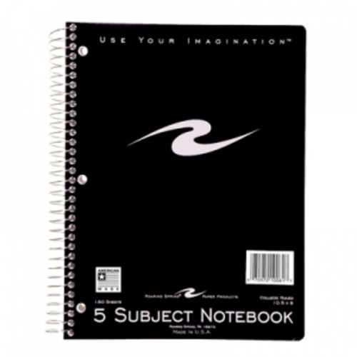 Roaring Spring College Ruled 5-Subject Wirebound Notebook 5 Subject Assorted