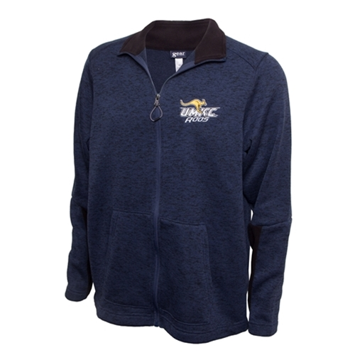 UMKC Roos Fleece Lined Navy Blue Full Zip Jacket