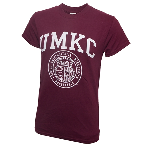 UMKC Official Seal Maroon Crew Neck T-Shirt