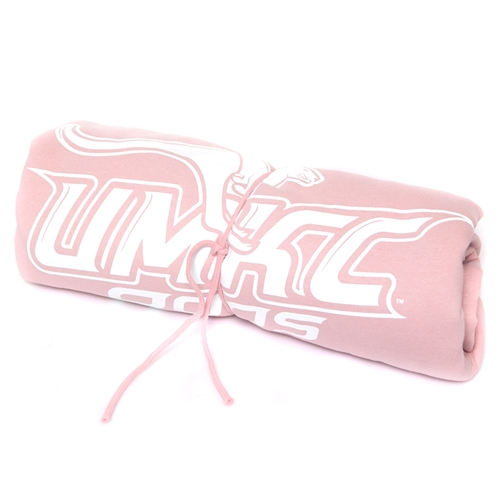 UMKC Roos Light Pink Sweatshirt Blanket